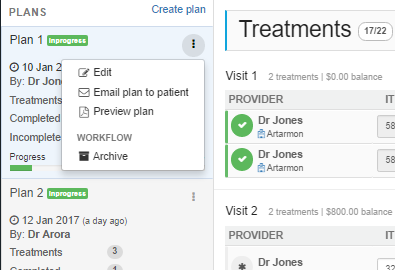 Export your treatment plans in an instant