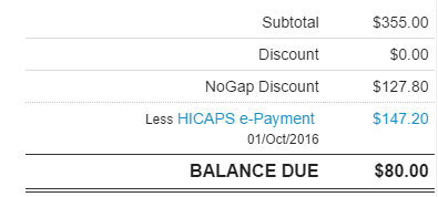 Automatic gap discount calculations