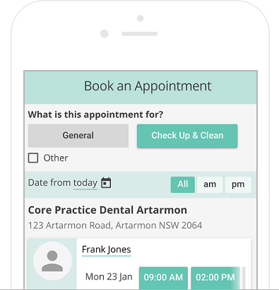 Mobile-optimised online appointments