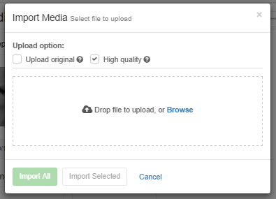 Optimised media uploads based on your internet speed