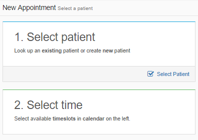 Create appointments in 2 easy steps
